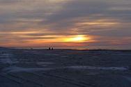Solnedgang over havet