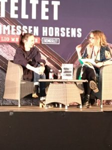 Yrsa Sigurðardóttir (tv) og Berit Holbæk Jensen